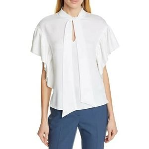 Ted Baker Tie Neck Ruffle Sleeve Blouse Ted 1 XS